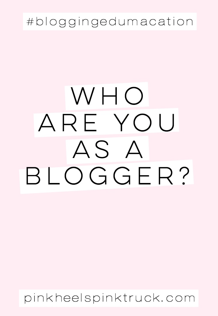 Have you ever asked yourself this question: Who are YOU as a blogger?? #bloggingedumacation