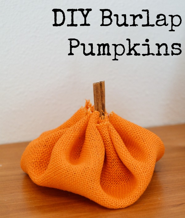 How adorable are these pumpkins? These DIY Burlap Pumpkins are the perfect addition to any Halloween or Fall decor!