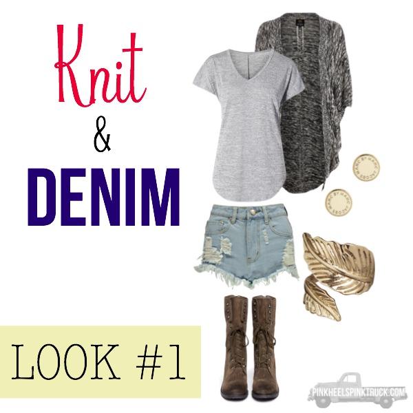 FALL FASHION: Knit & Denim Look #1