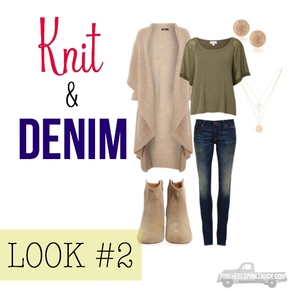 FALL FASHION: Knit & Denim Look #2