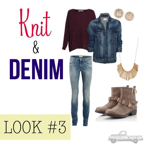 FALL FASHION: Knit & Denim Look #3