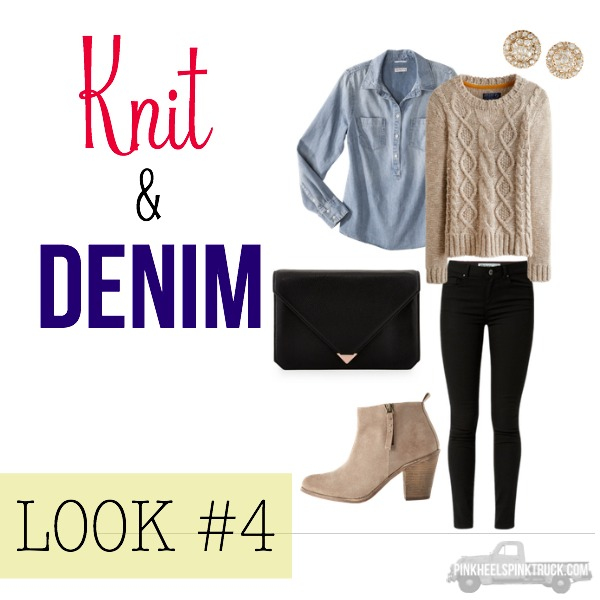 FALL FASHION: Knit & Denim Look #4