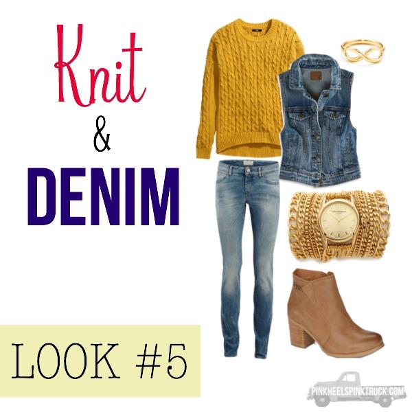 FALL FASHION: Knit & Denim Look #5