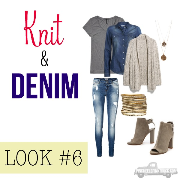 FALL FASHION: Knit & Denim Look #6
