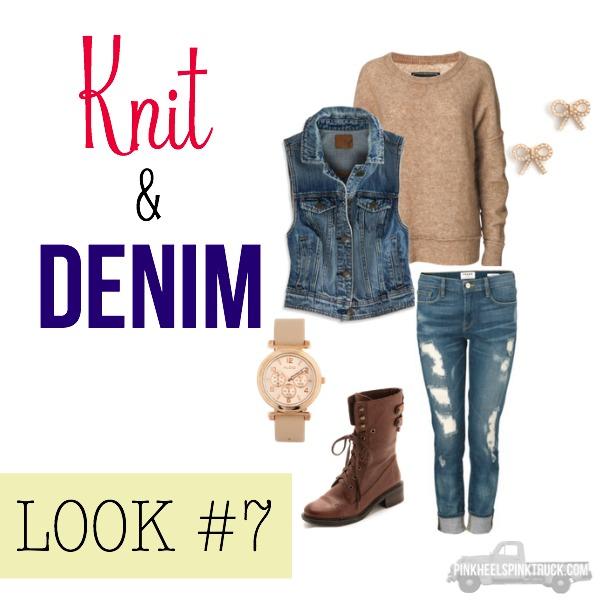 FALL FASHION: Knit & Denim Look #7