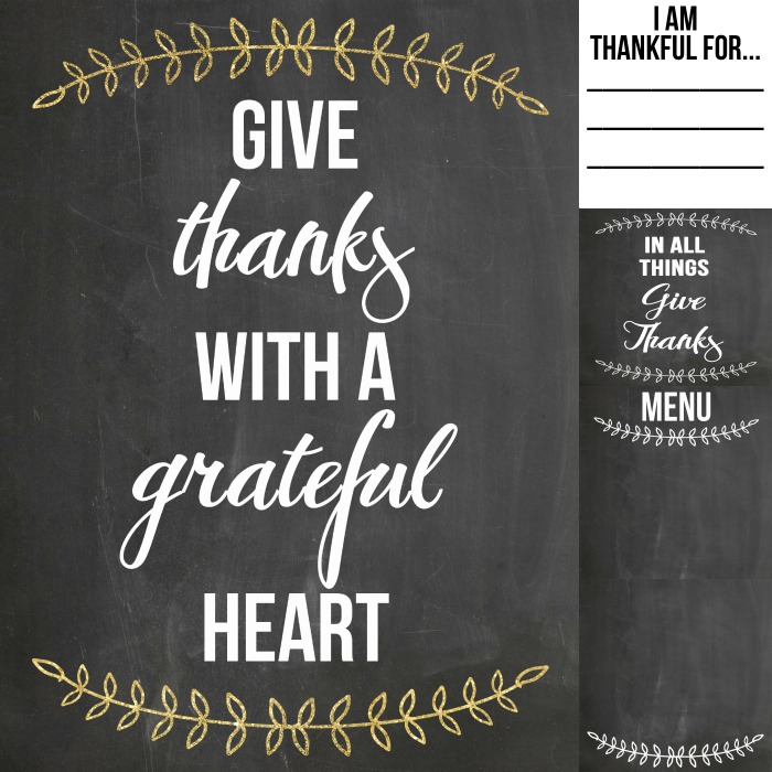 Thanksgiving Printables...the perfect addition to your Thanksgiving decor!