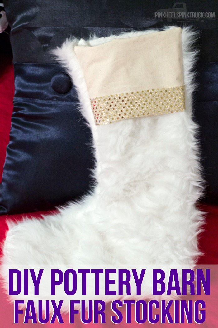 Want to make your own Faux Fur Stocking inspired by Pottery Barn? Then this is the DIY project for you!