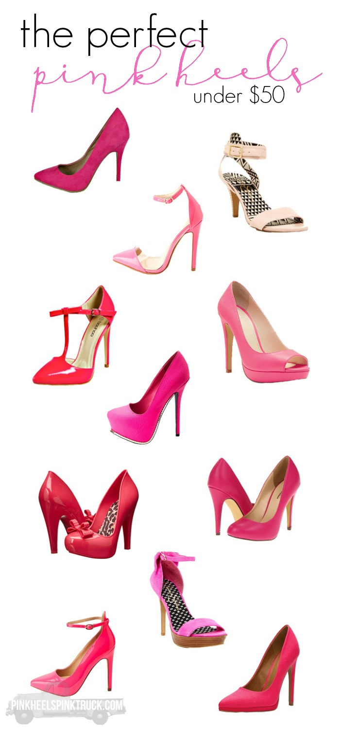 If you love the color pink & are a heel lover such as myself, then you need to snag you a few pairs of these perfect pink heels! (or two or three!)