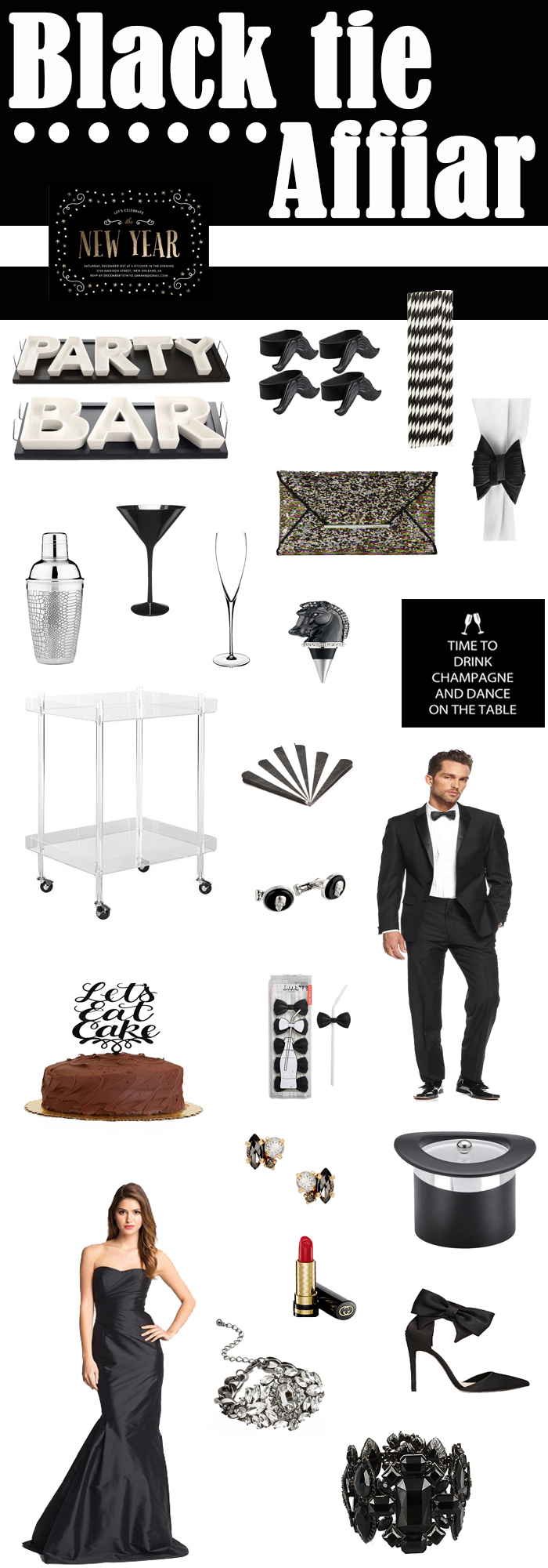 Nye Dinner Party Ideas Part - 49: Looking For A Fun NYE Party Idea? How About A Black Tie Affair Themed NYE