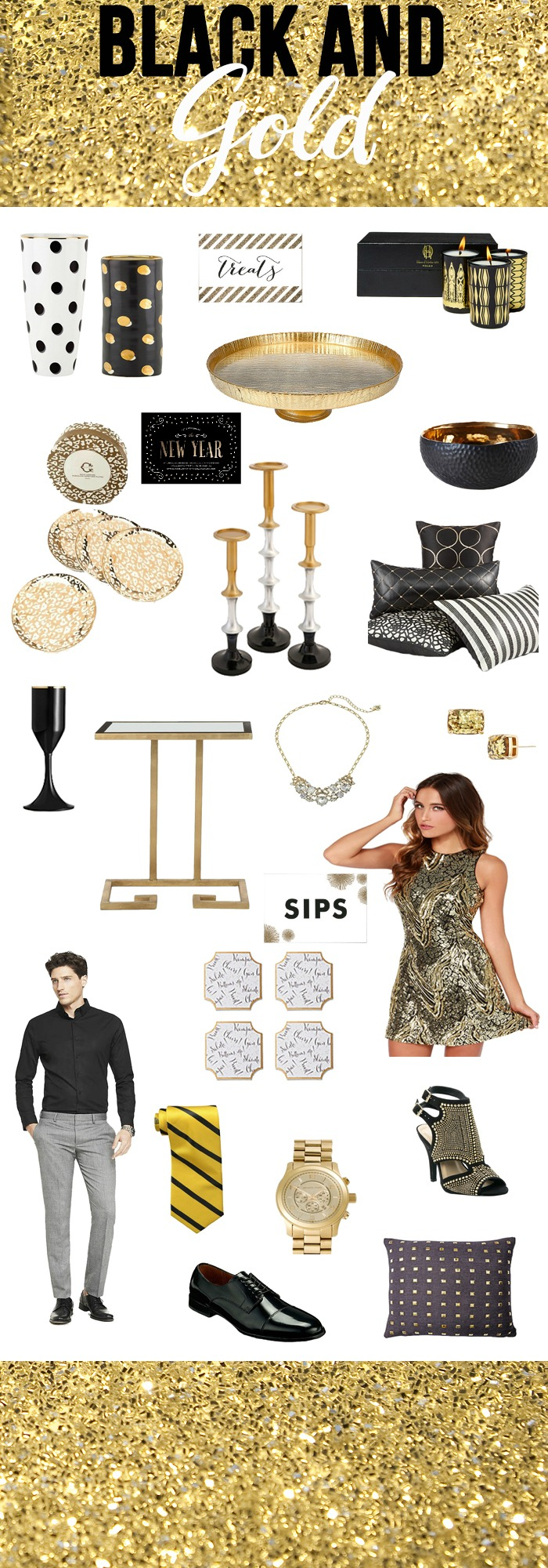 Looking for a fun NYE Party Idea? How about a Black and Gold Themed NYE?