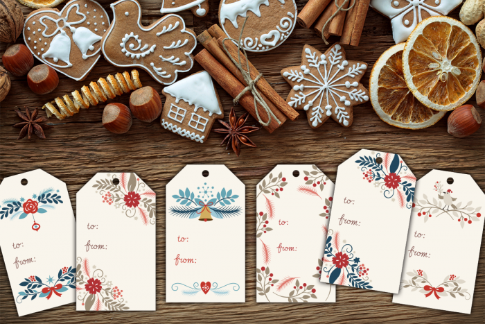 Need some cute Holiday Gift Tag Set? Check out this adorable set from Hooplah House Creative!
