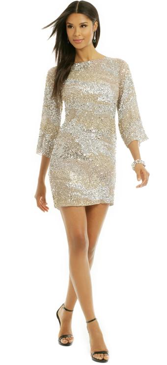 Vie la V Sprinkle the Sequins Shift Dress