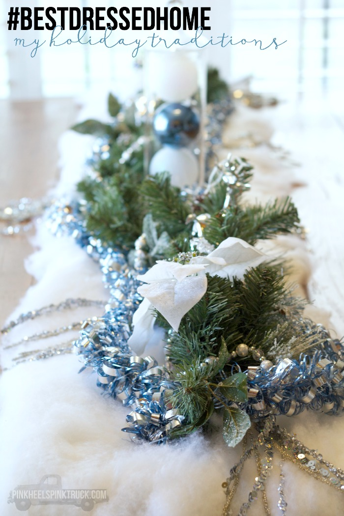 Sharing some of my holiday traditions and my dining room table holiday decor. #bestdressedhome