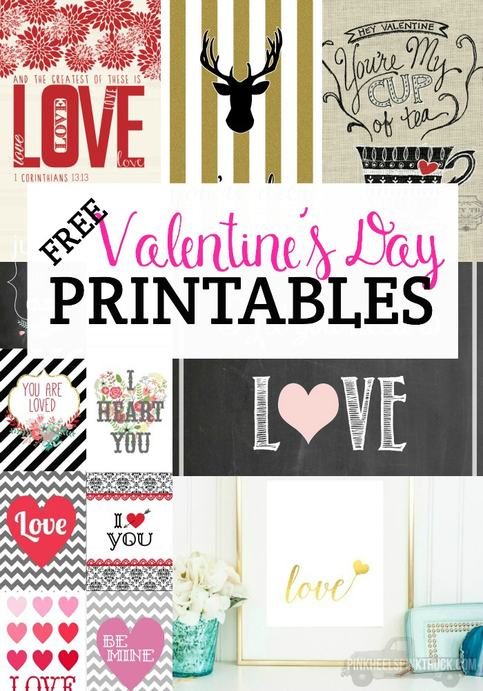 This round-up of Free Valentine's Day Printables is surely going to make you swoon! Print your favorite out and gift it to one of your loved ones! Or to yourself in a new frame!