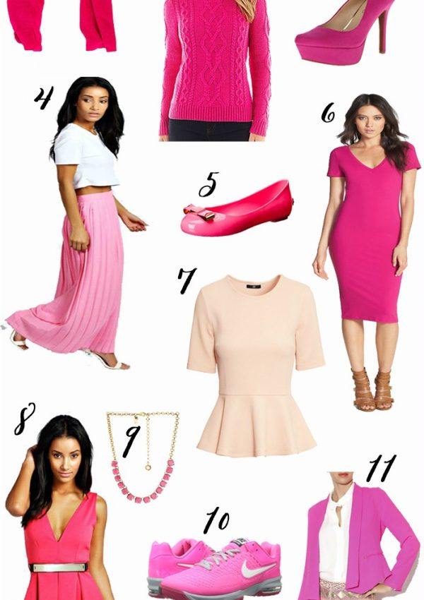 Fashion: Pink Wardrobe Essentials