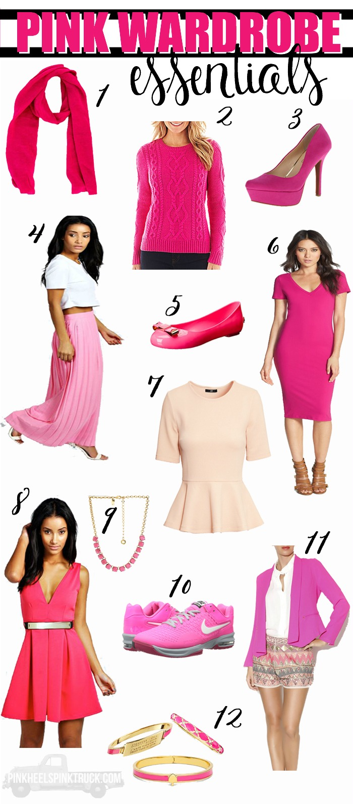 I love me some pink! (Can't you tell??) And these Pink Wardrobe Essentials are MUST HAVES for everyone who loves Pink just as much as me!!