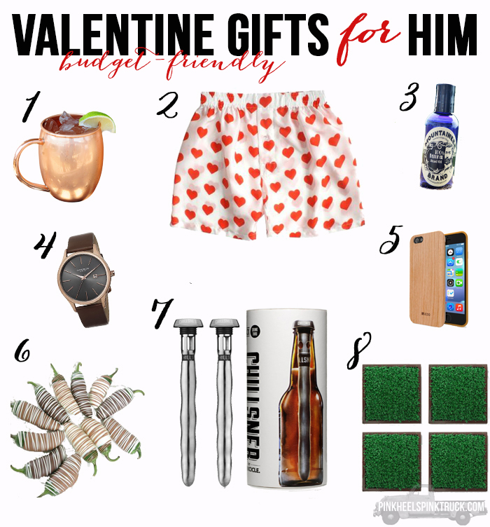 Need budget friendly valentines gifts? I've got a great list of gifts for him and her!