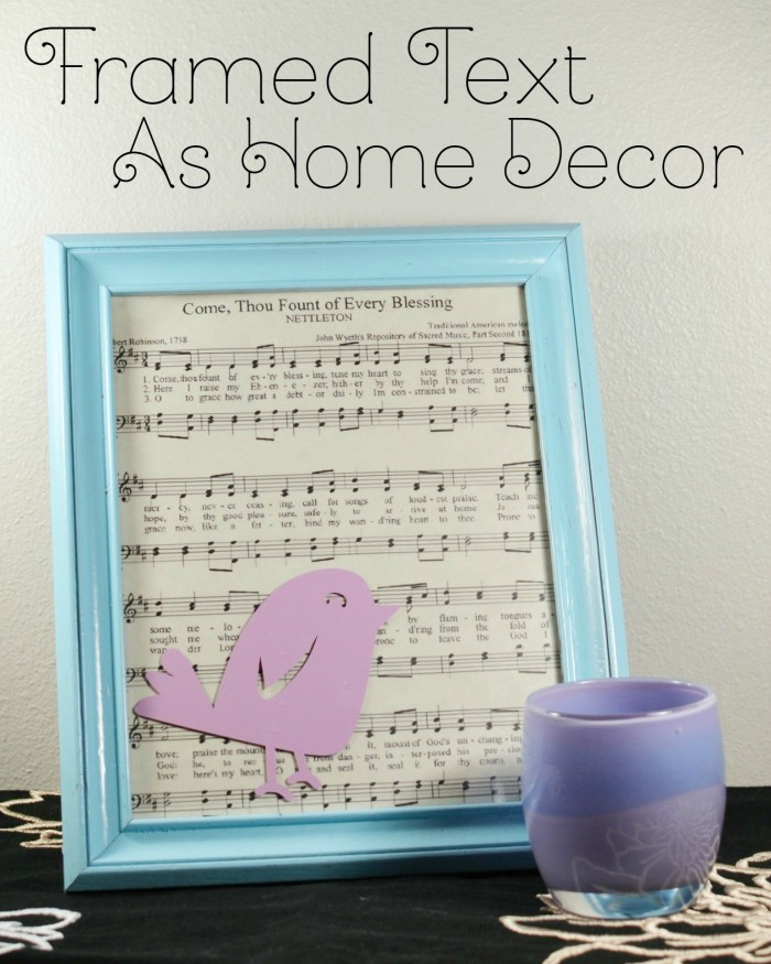This framed text is the perfect addition to your home decor! Super simple diy...grab your favorite text and a frame! An easy craft project!