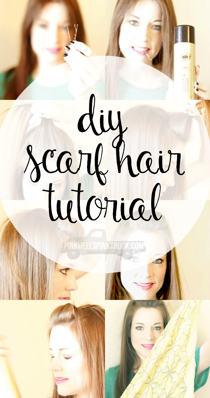 Wanting a fun hair look? Try out this super simple DIY Scarf Hair Tutorial!