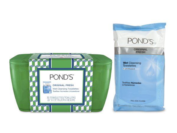 Ponds Vanity Case Green plus towelettes