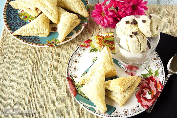 Pistachio Ice Cream and Spiced Chocolate Samosas Recipe