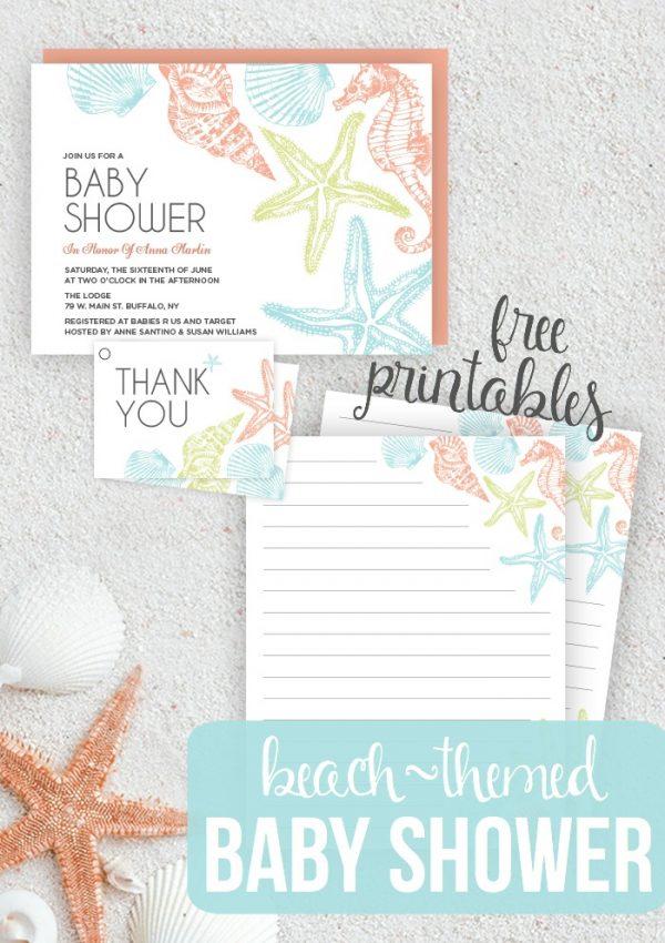 Beach Themed Baby Shower – Seaside Baby Shower Printables