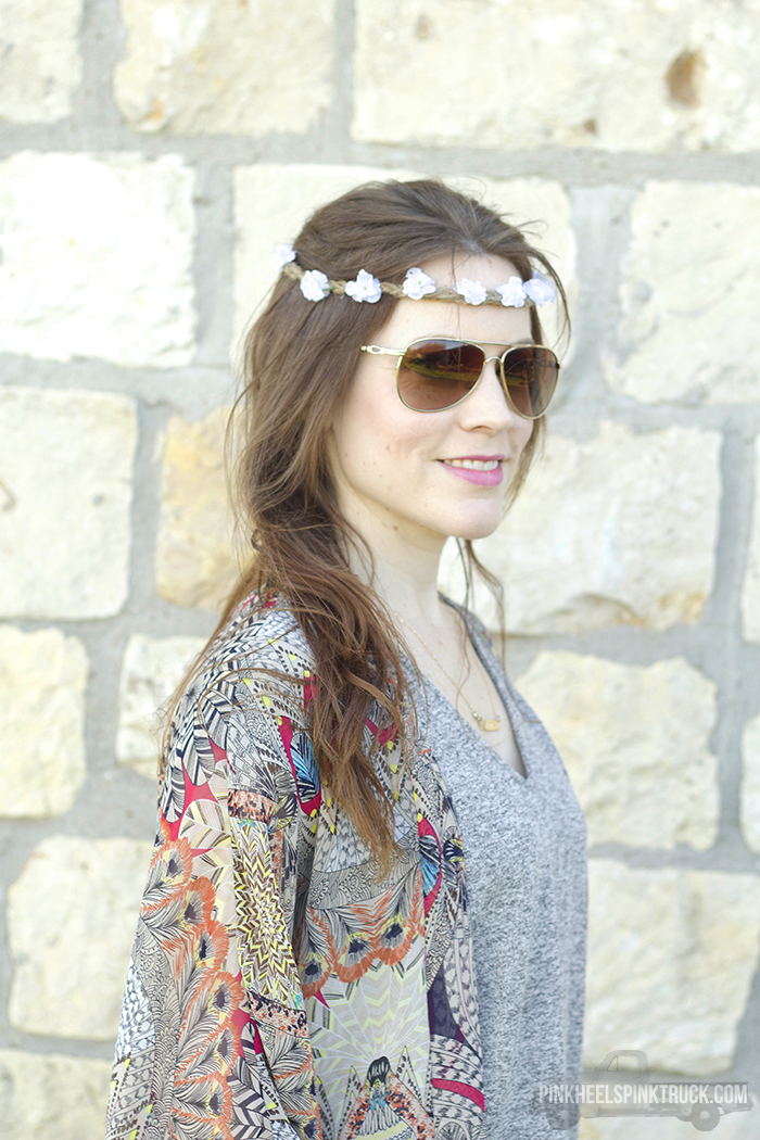DIY Boho Flower Crown with Boho Waves from TRESemme