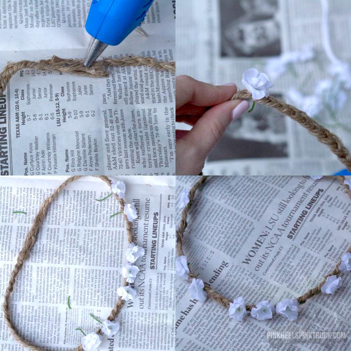 DIY Boho Flower Crown Tutorial 2