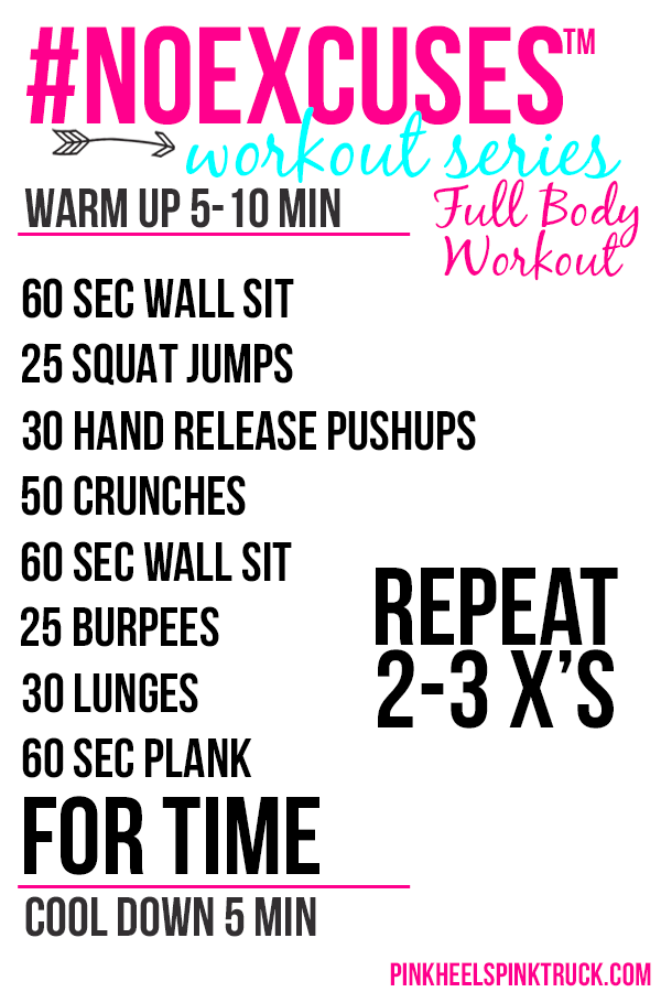 Looking for a Full Body Workout? Then look no further! This full body workout is a definite challenge! It's a TIMED CHALLENGE! #NOEXCUSES™ Fitness Workout Series Full Body Workout #11