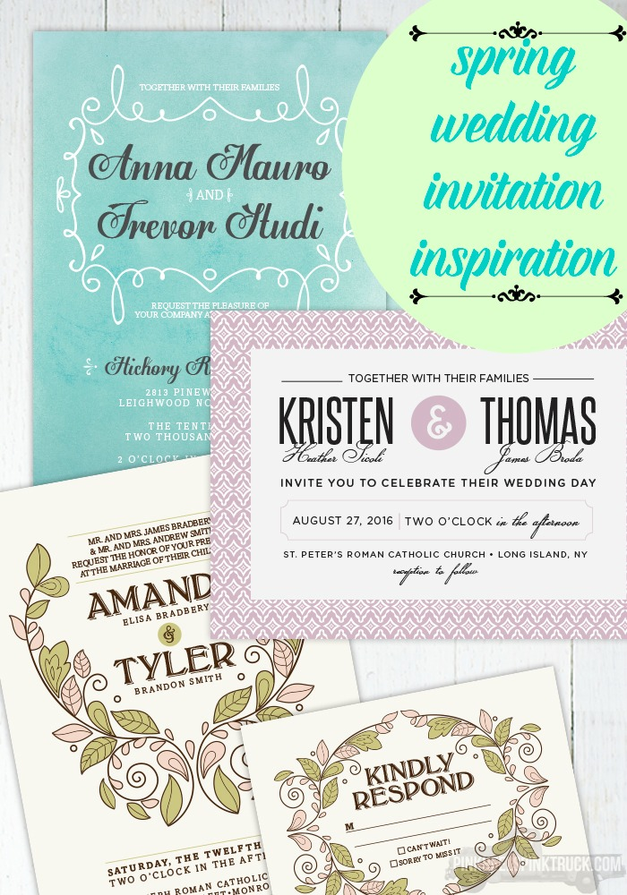 Needing some Spring Wedding Invitation Inspiration? Check out these amazing ideas from Hoopla House Creative!
