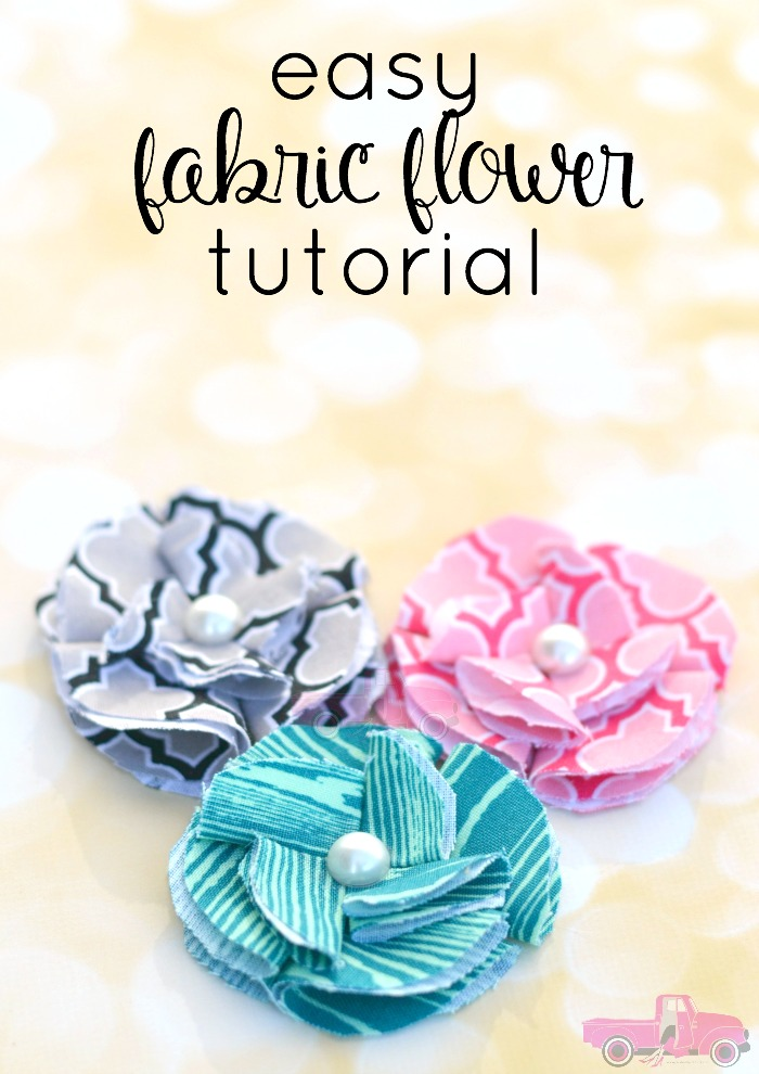 We Hope This Little Diy Fabric Flower Tutorial Helps You Out