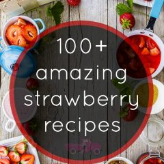 Looking for a sweet Strawberry dish? Look no further than these 100+ amazing strawberry recipes! Strawberry desserts, strawberry salads, strawberry breakfast food, strawberry cocktails and more!