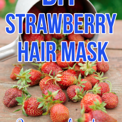 Is your hair dry? Does your hair need a pick-me-up? Try this DIY Strawberry Hair Mask. Perfect for bringing back your hair's moisture!