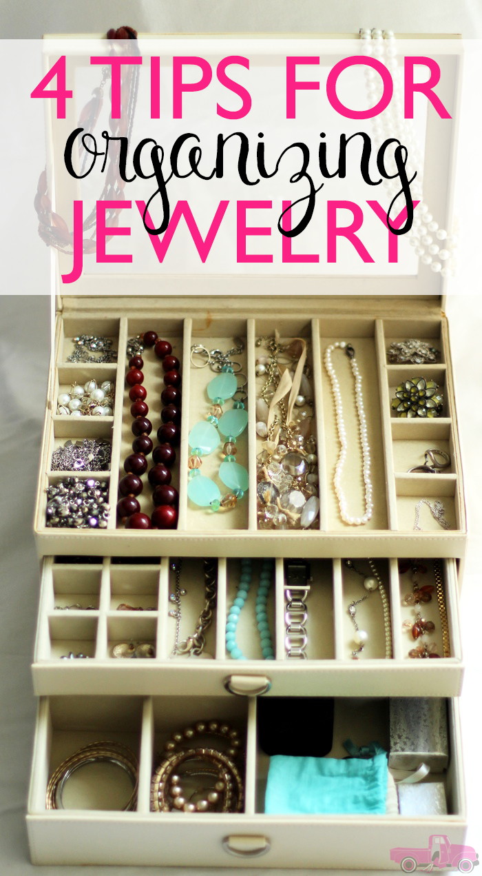 Does your jewelry get missplaced? Or does it get tangled up with the rest of your jewelry? Check out these 4 Tips for Organizing Jewelry