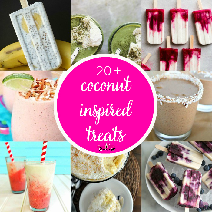 These Coconut recipes are sure to be a hit this summer! Over 20 mouth-watering Coconut Treats perfect for the entire family! Check out these Coconut Inspired Sweet Treats!