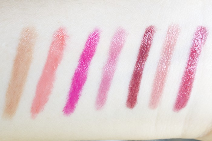 butter London Bloody Brilliant Lip Crayon Swatches