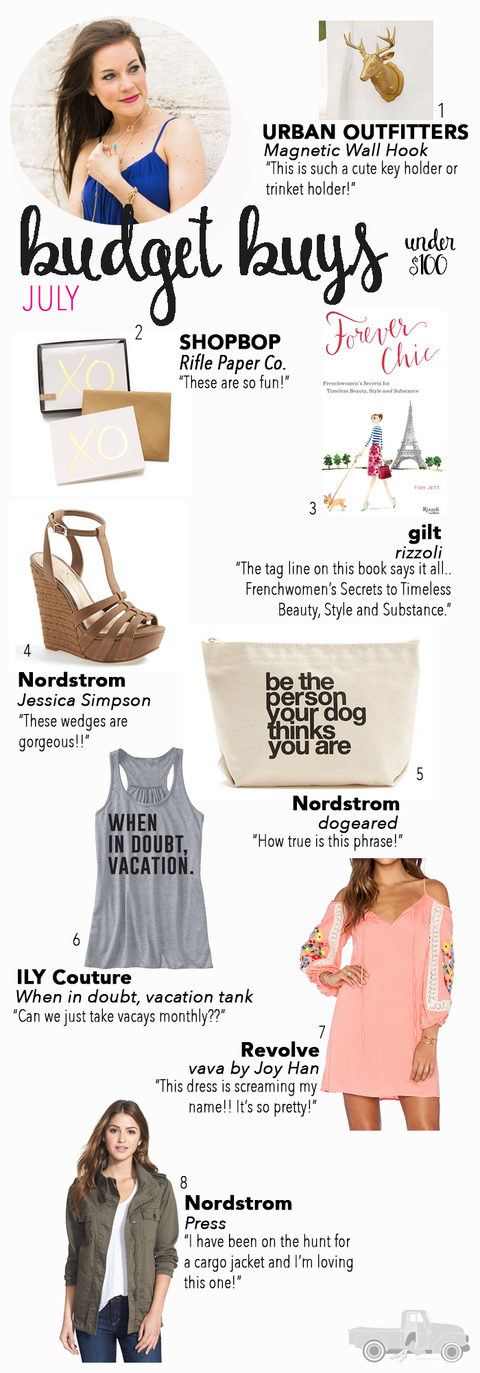 Looking to go shopping? You've got to check out my July Budget Buys! Everything is under $100...lots of fun things from Nordstrom and more!!