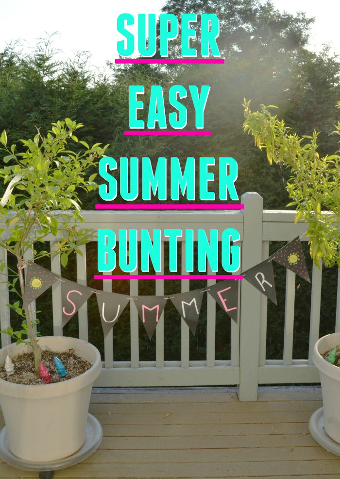 Looking for a fun summer craft project? Check out this super easy summer bunting! Definitely an easy craft for kids!