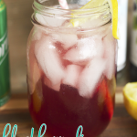 Looking for a new cocktail to try? How about this super simple Blackberry Fizz Cocktail! It's Blackberry Syrup, White Rum, Sprite and Lemon Juice!