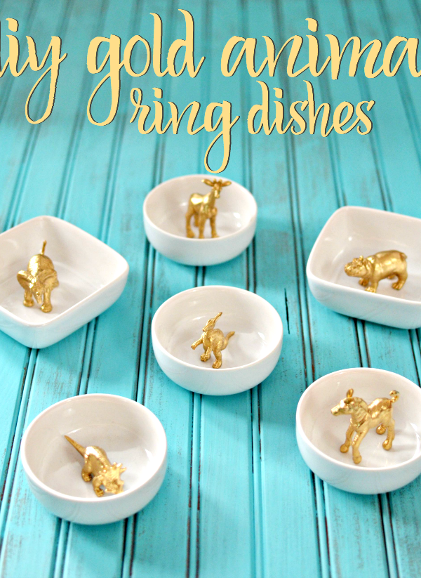 Craft: Gold Animal Ring Dishes
