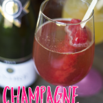 Champagne Popsicle Float Cocktail