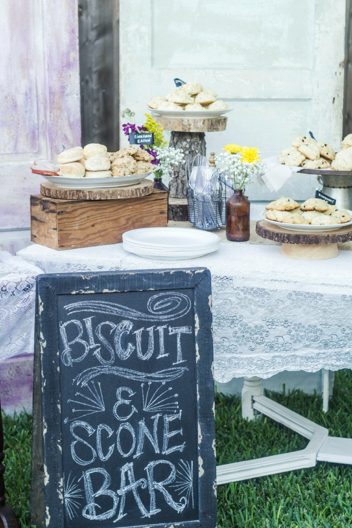 Looking for a unique brunch idea? How about a DIY Biscuit and Scone Bar? Perfect for a tailgate brunch, bridal shower brunch or baby shower brunch!