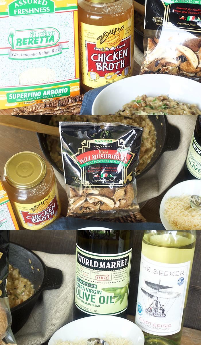 Wild Mushroom Product Collage