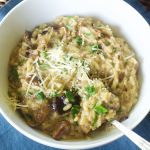 This Wild Mushroom Risotto Recipe is amazing. If you like risotto's and mushrooms than you will surely love this combo. The secret...dried mushrooms.