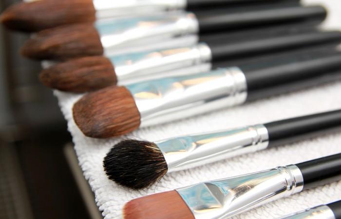 Set Of Wet Make-up Brushes