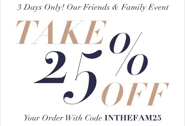ShopBop Friends & Family Sale 2015