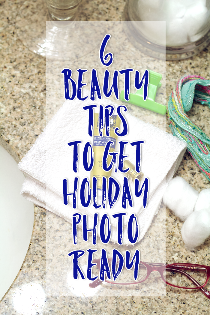 The holidays are upon us which means the weather is starting to cool down. Here are 6 Beauty Tips to Get Holiday Photo Ready & prep your skin for winter. #RoCRetinolResolution #WomenWhoRoC
