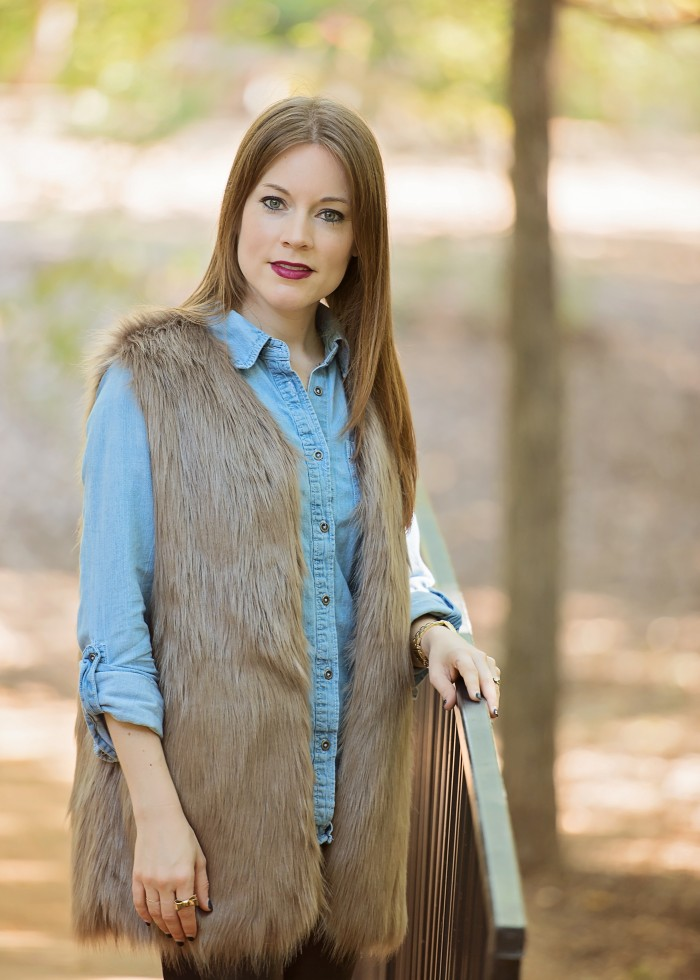 Faux Fur, Chambray & Leather