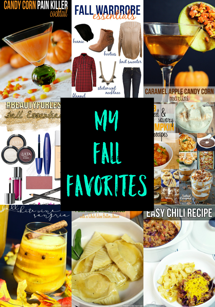 It's fall again and I'm sharing some of my fall favorites from last year...food, cocktails, beauty and fashion essentials!