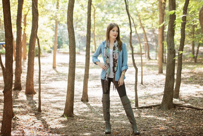 faux-leather-chambray-riding-boots